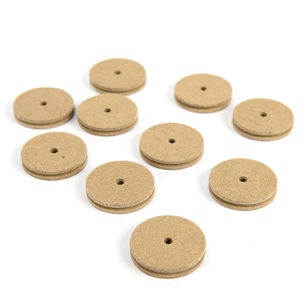Wooden Pulley 34mm Diameter 10pk  large