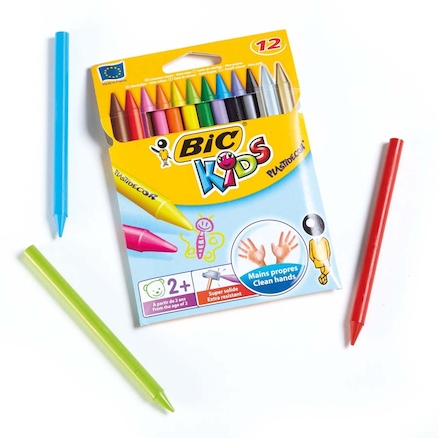 BIC Plastic Crayons Assorted 12pk  large