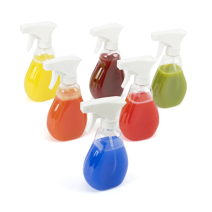 Clear Trigger Water Sprayers 6pk  large