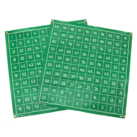 Write on Vinyl Hundred Squares 1\-100  large