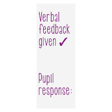 Verbal Feedback Stamper  medium