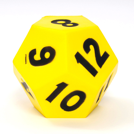 12 Sided Giant Foam Dice  large