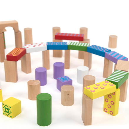 Wooden Building Blocks 100pcs  large