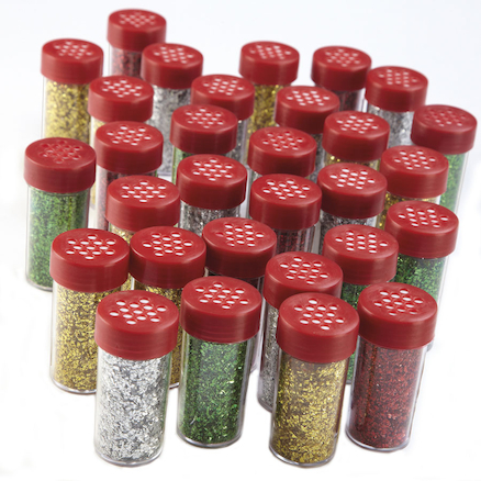 Glitter Shakers Assorted 18g 30pk  large