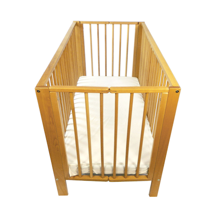 Wooden Folding Cot and Mattress  large