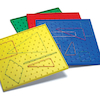 Doublesided Isometric Coloured Pinboards 12pk  small