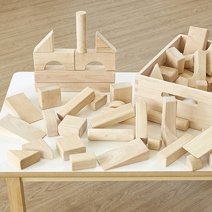 Standard Wooden Unit Blocks 60pcs  large