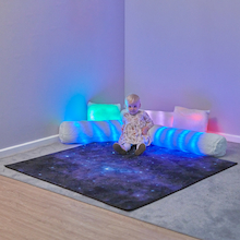 Rechargeable Fibre Optic Sparkle Rug  medium