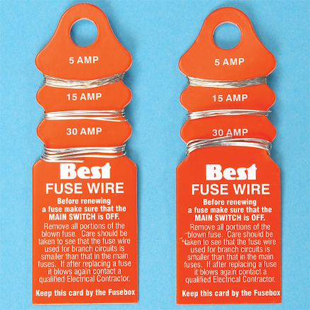 Fuse Wire, 5, 15 and 30 Amp  large