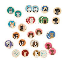 Memo Dogs Matching Game 32pk  medium
