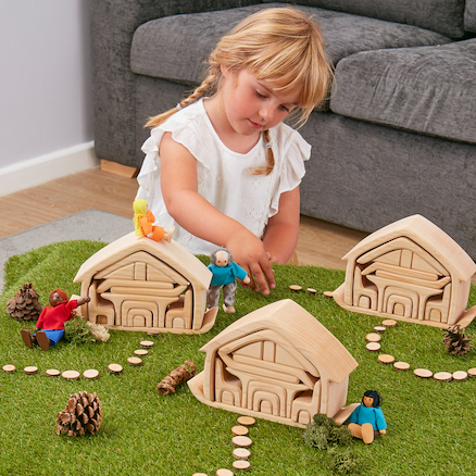 Small World Wooden Nesting Houses  large