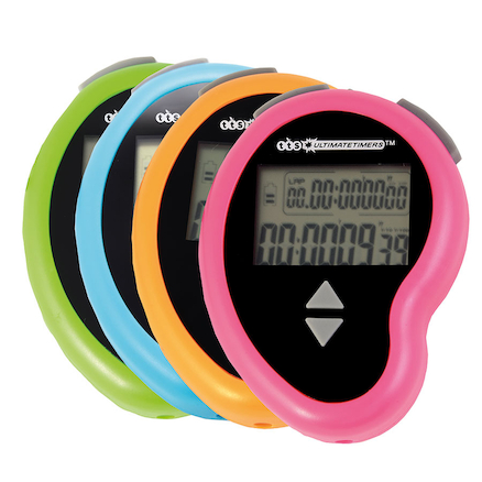 Rechargeable Stopwatches with Lap Function 16pk  large
