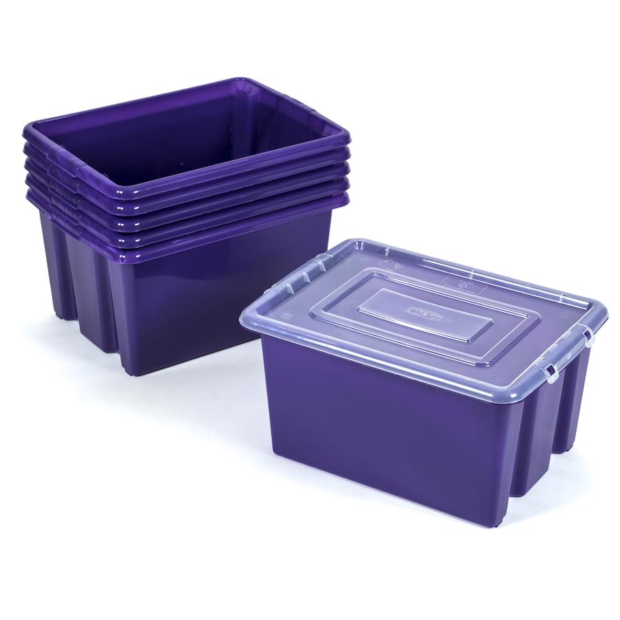 Attirant ... Stack And Store Plastic Storage Boxes Small ...