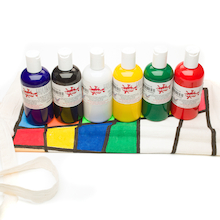 Heat Fix Fabric Paint Assorted 150ml 6pk  medium