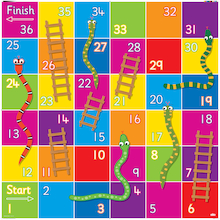 Bee-Bot® Snakes and Ladders Mat  medium