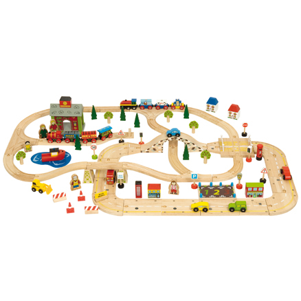 Small World Wooden Road and Rail Set  large