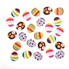 Wooden Egg Shaped Buttons  small
