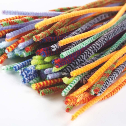 Chenille Stripe Stems Assorted L30mm 100pk  large