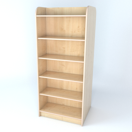 Double Sided Library Bookcase In Maple  large