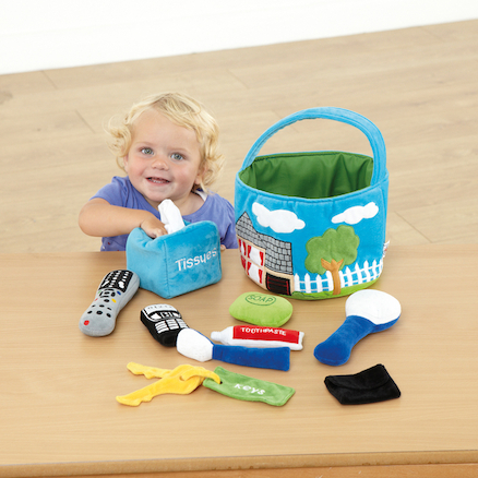 Soft Role Play Basket of Everyday Objects  large