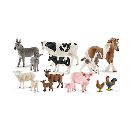 Schleich Farm Animals and their Young 14pcs  large