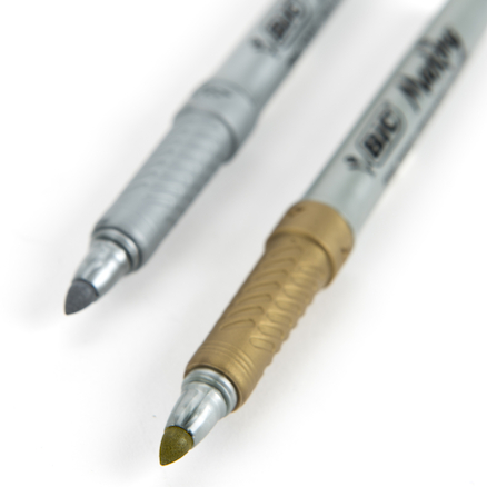 Gold and Silver Marker Pens 2pk  large