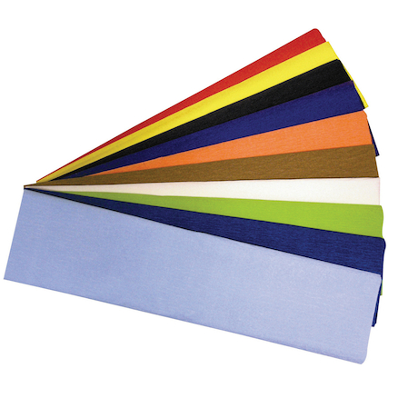 Assorted Crepe Paper 500mm x 2.5m 10pk  large