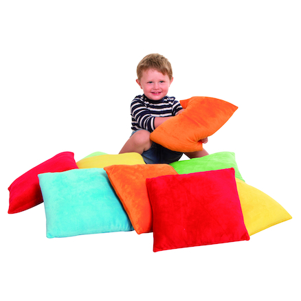 Bright Coloured Soft Cushions 10pk  large