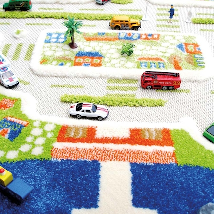 Small World 3D Activity Play Rug  large