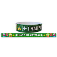 I Had First Aid Today Wristbands  medium