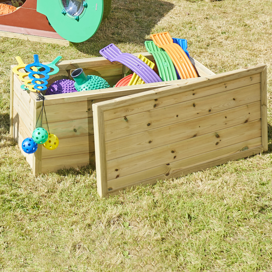 ... Outdoor Wooden Storage Chest Small