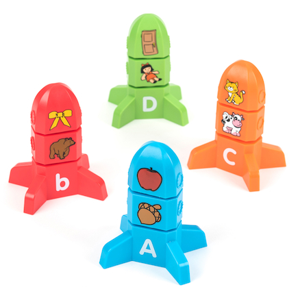 Alphabet Matching Rockets 78pcs  large