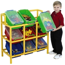 Rainbow 9 Tilt Bin Storage Unit  medium