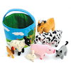 Basket of Soft Farm Animals  small