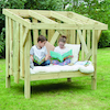 Outdoor Wooden Reading Bench  small