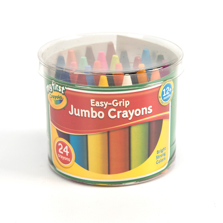 Crayola Mini Kids Jumbo Assorted Crayons 24pk  large