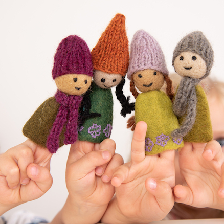 Forest Family Finger Puppets 4pk  large