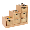 Tiered Storage Units With Wicker Baskets  small