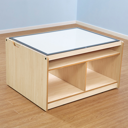 Lightbox Table with Storage  large
