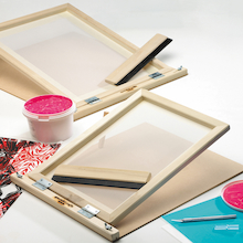 Silk Screen and Squeegee Kit 23 x 33cm  medium