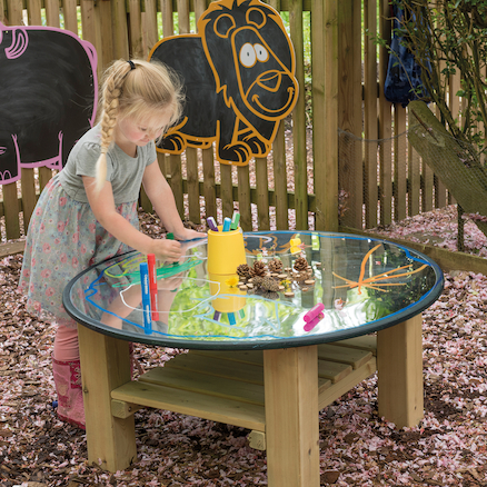 Outdoor Mirror Activity Table Wooden  large
