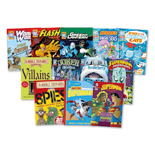 KS2 Heroes and Villains Books 12pk  medium