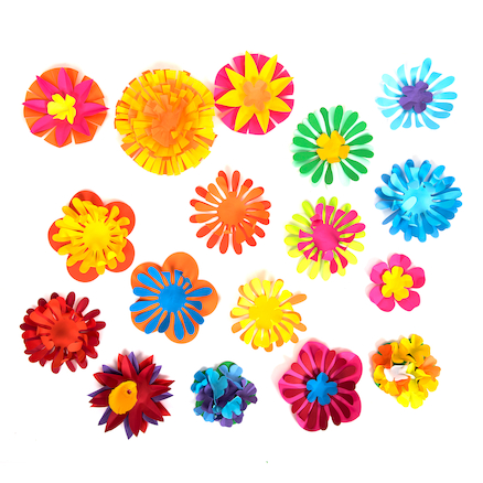 Paper Flower Shapes Assorted 500pk  large