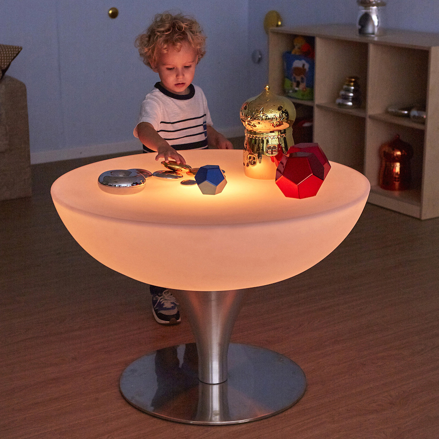 Buy Round Light Up Colour Changing Glow Table Tts