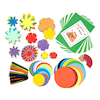 Paper Flower Shapes Assorted 500pk  small