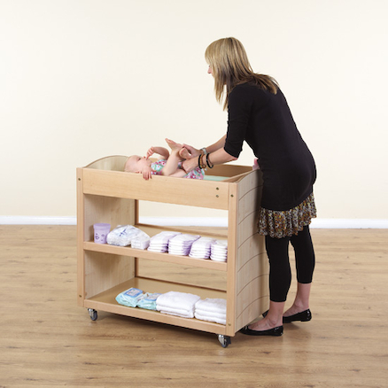 Wooden Mobile Baby Changing Unit  large
