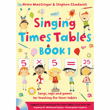 Singing Times Tables Book Pack  large