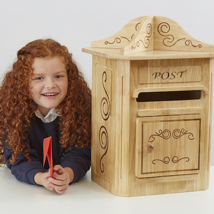 Magic Wooden Role Play Post Box  large