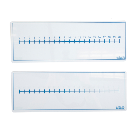 Dry Wipe Double Sided Number Line Board 30pk  large