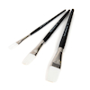 White Synthetic Sable Flat Brushes Assorted  small